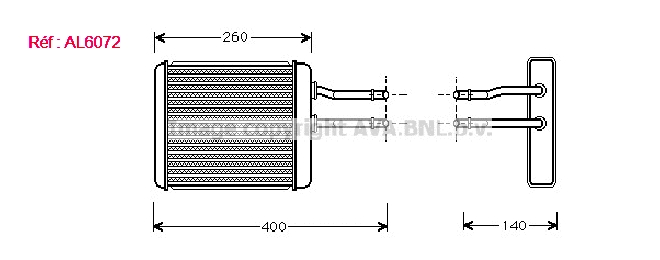 Radiateur eau ALFA ROMEO 147 PHASE 2 Diesel